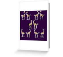 Reticulated Laughing Giraffe Greeting Card
