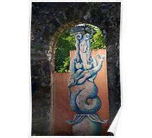 Môr-forwyn Portmeirion Mermaid Poster