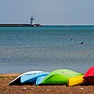 Kayaks on the Beach by gharris