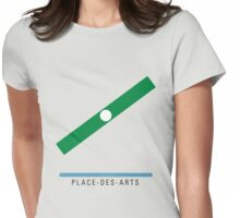 Station Place-des-Arts Womens Fitted T-Shirt