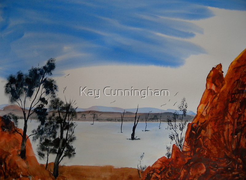 Hint Of Water - Gammon Ranges National Park - Australia by Kay Cunningham