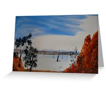 Hint Of Water - Gammon Ranges National Park - Australia Greeting Card