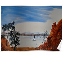 Hint Of Water - Gammon Ranges National Park - Australia Poster