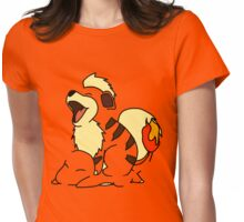 Growlithe Use Tackle! Womens Fitted T-Shirt
