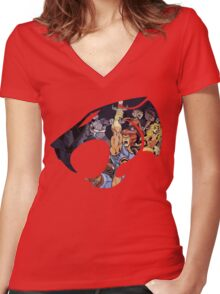 Feel The Magic Hear The Roar Women's Fitted V-Neck T-Shirt
