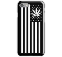 United States of Marijuana - Black & White iPhone Case/Skin