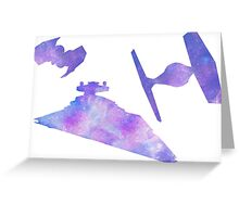 Star Wars Empire Ships Space design Greeting Card