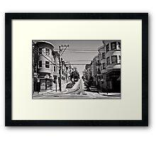 Cnr. Hyde and Washington. San Franscisco - USA Framed Print