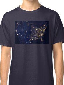 USA at Night from Space Classic T-Shirt
