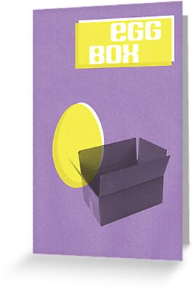 Egg Box Easter Card by rperrydesign