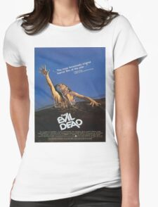 The Evil Dead Movie Poster Womens Fitted T-Shirt