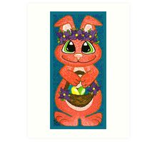 Miss Easter Bunny is here! Art Print