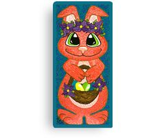 Miss Easter Bunny is here! Canvas Print