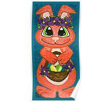 Miss Easter Bunny is here! Poster