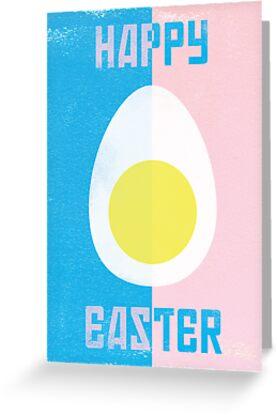 Rusky Easter Card - Blue & Pink by rperrydesign