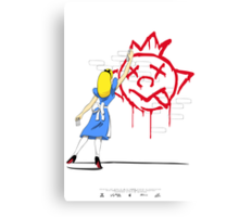 Alice Graffiti Canvas Print
