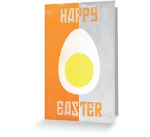 Rusky Easter Card - Orange & Grey Greeting Card