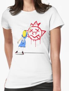 Alice Graffiti Womens Fitted T-Shirt