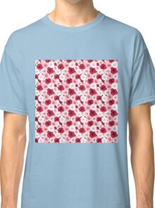 Stylish romantic trendy red pink roses floral Classic T-Shirt
