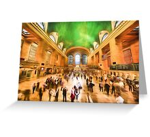 Grand Central Rush     (GO2) Greeting Card