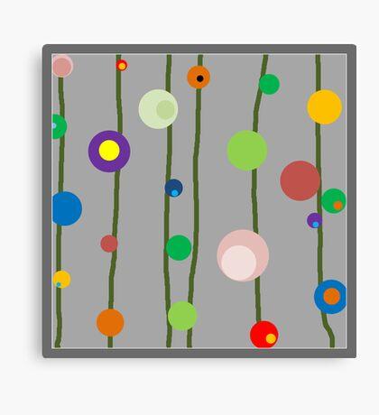 Dots on Gray Canvas Print