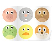 Animal Faces Poster