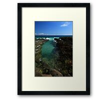 Rock Pool Snapper Rocks Framed Print