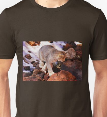 """Lynx on the Prowl"" Unisex T-Shirt"