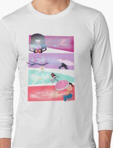 Garnet, Amethyst, and Pearl, and Steven! Long Sleeve T-Shirt