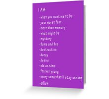 I'm Alive Checklist Greeting Card
