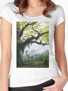 Realm of the Ancient Ginkgo Women's Fitted Scoop T-Shirt