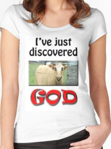 I JUST DISCOVERED GOD Women's Fitted Scoop T-Shirt