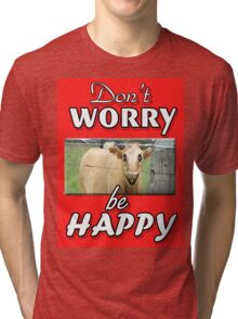 DON'T WORRY BE HAPPY Tri-blend T-Shirt