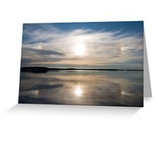 Halo observed in summer in Minsk, Belarus Greeting Card