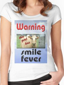 SMILE FEVER Women's Fitted Scoop T-Shirt