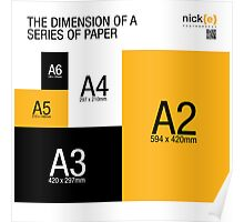 """A"" series of paper sizes. Poster"