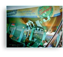 Reflections & Live Musicians at Tom's Tabooley, Austin, Texas Metal Print