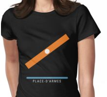 Station Place-d'Armes Womens Fitted T-Shirt
