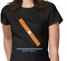 Station Mont-Royal Womens Fitted T-Shirt
