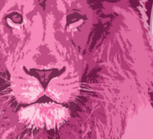 Hunting Series - The Pink Lion Head Sticker
