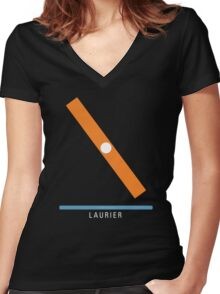 Station Laurier Women's Fitted V-Neck T-Shirt