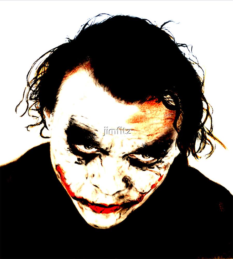 Heath Ledger as The Joker in The Dark Knight by jimfitz