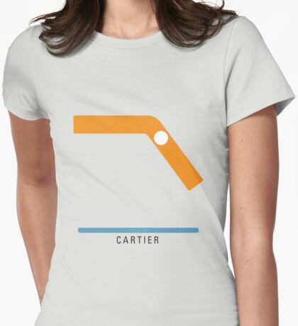 Station Cartier Womens Fitted T-Shirt