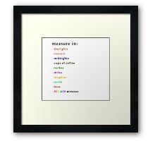 Measure In Framed Print