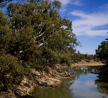Murrumbidgee river from the Maude bridgee by outbacksnaps