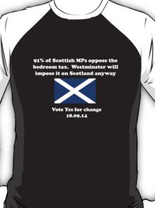 Stop the Bedroom Tax Scottish Independence Shirt T-Shirt
