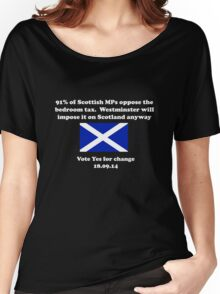 Stop the Bedroom Tax Scottish Independence Shirt Women's Relaxed Fit T-Shirt