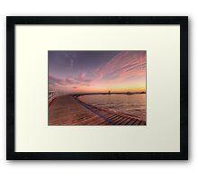 Sunrise over Promenade Framed Print