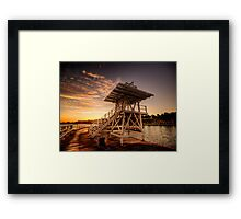 Dive Tower Rise Framed Print