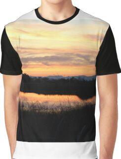 Sunset at Gray Lodge Graphic T-Shirt